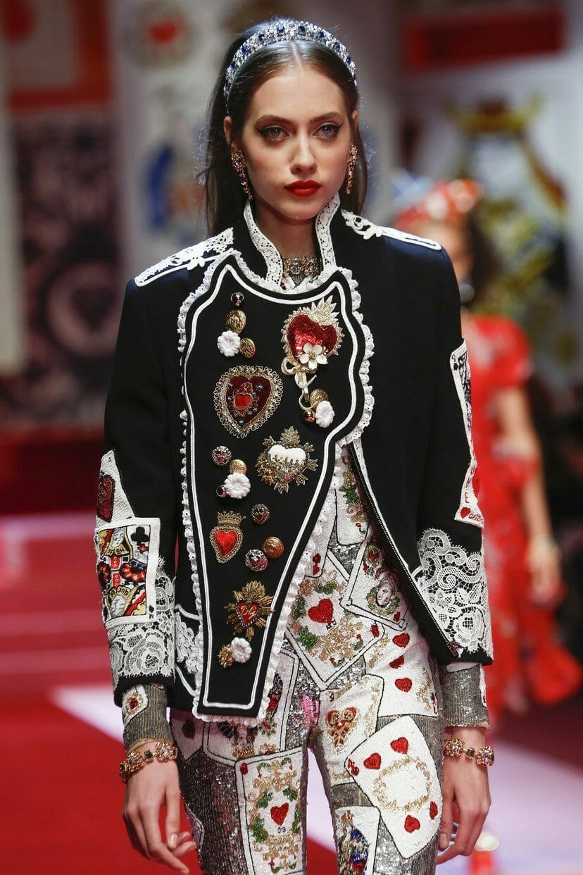 "DOLCE & GABBANA READY-TO-WEAR SPRING-SUMMER 2018. Milan Fashion Week. RUNWAY MAGAZINE ® Collections Special Selection ""Fashion Treasure"". RUNWAY MAGAZINE ® Collections. RUNWAY NOW / RUNWAY NEW"
