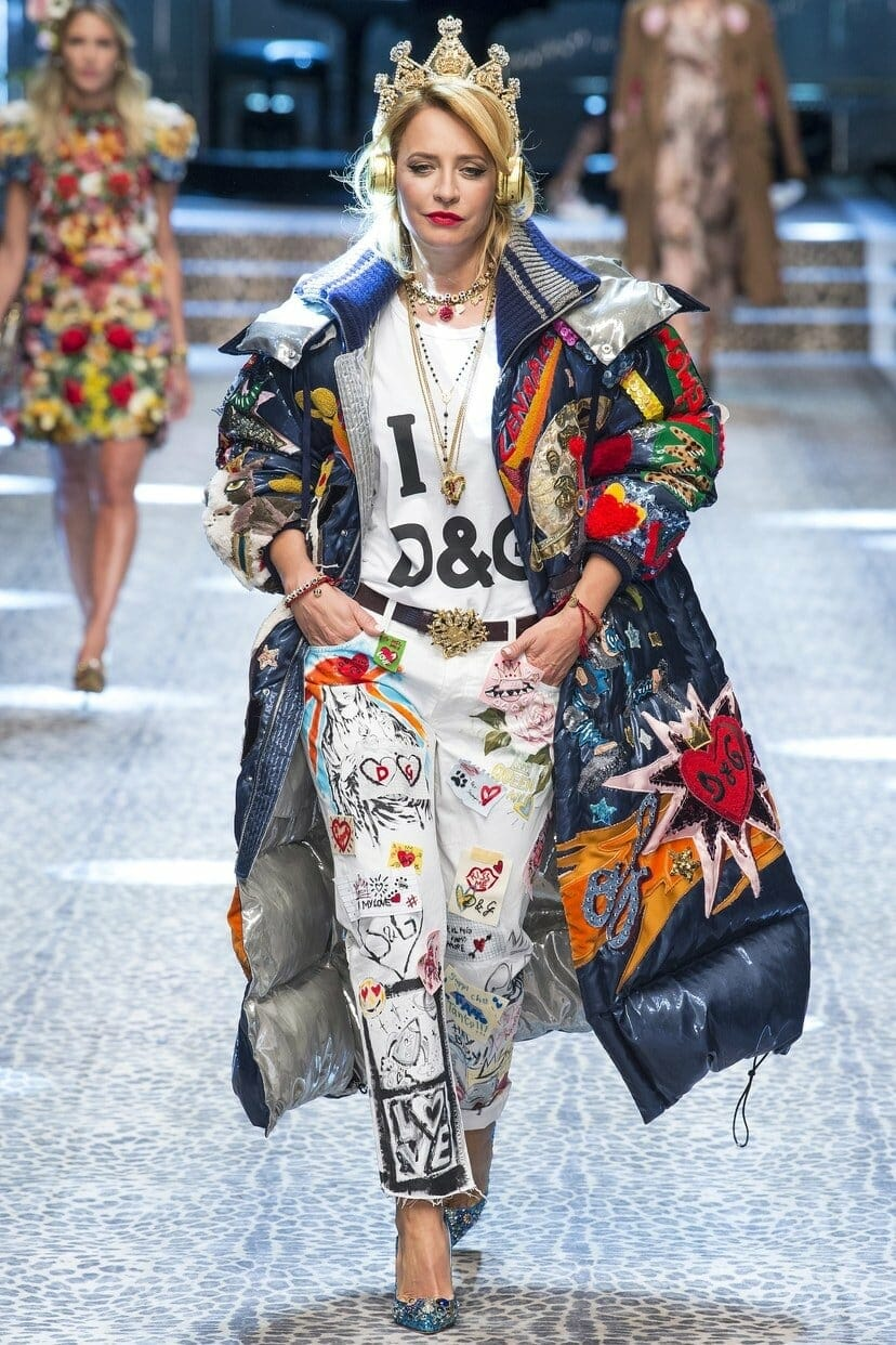 "DOLCE & GABBANA READY-TO-WEAR FALL-WINTER 2017-2018. Milan Fashion Week. RUNWAY MAGAZINE ® Collections Special Selection ""Fashion Treasure"". RUNWAY MAGAZINE ® Collections. RUNWAY NOW / RUNWAY NEW"