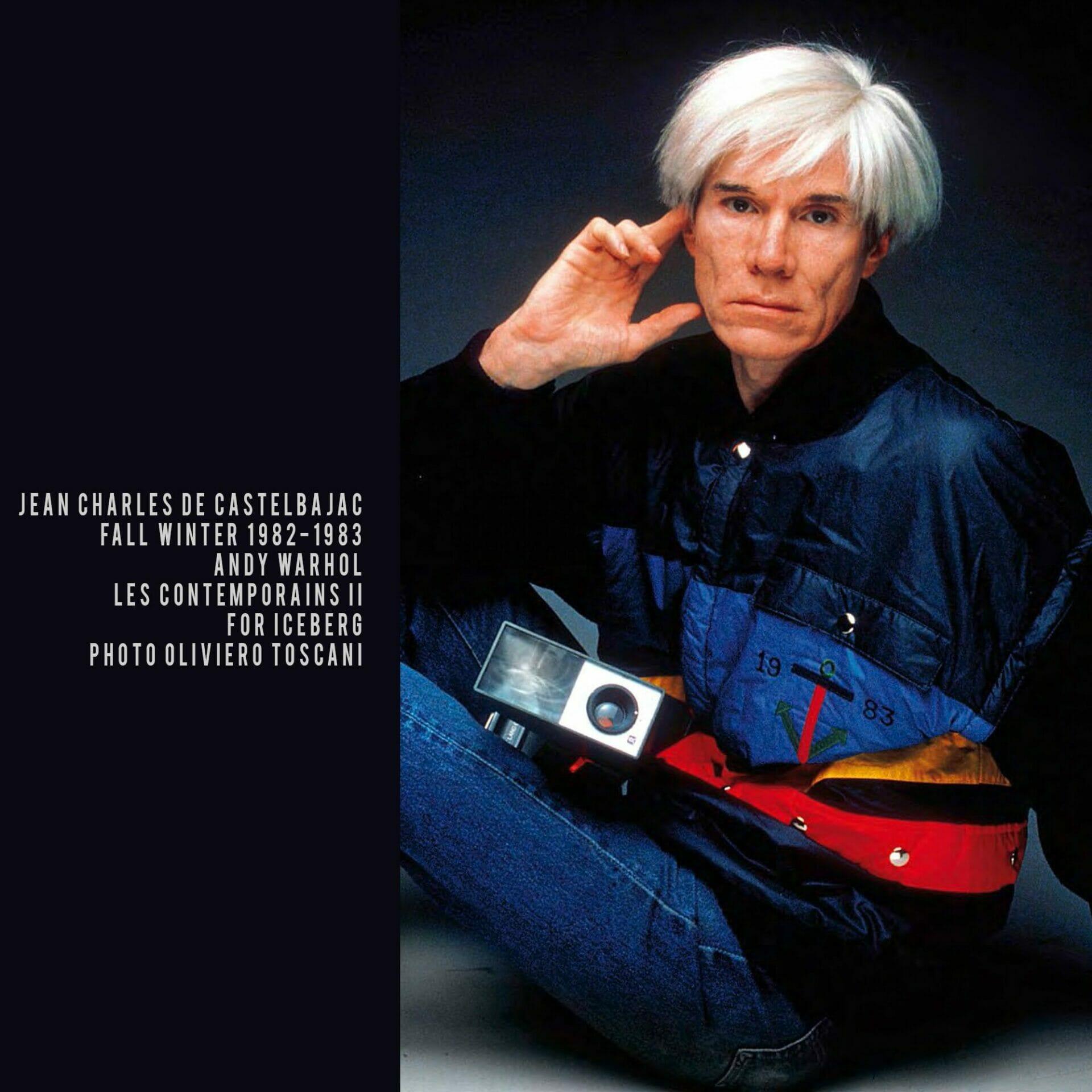 JC de Castelbajac for ICEBERG 1982 Andy Warhol. RUNWAY MAGAZINE ® Collections. RUNWAY NOW / RUNWAY NEW