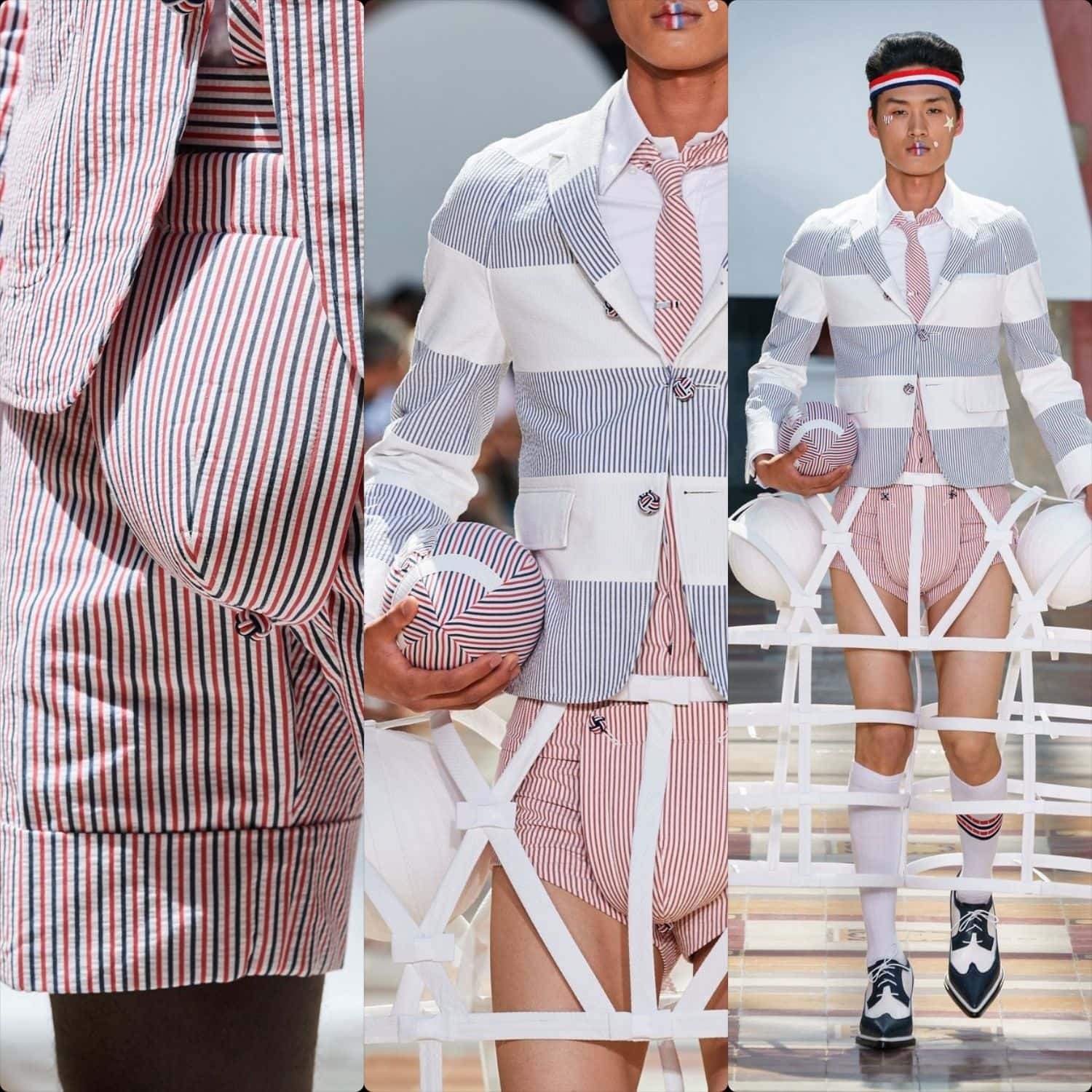 Thom Browne Menswear Spring Summer 2020 Paris. RUNWAY MAGAZINE ® Collections. RUNWAY NOW / RUNWAY NEW