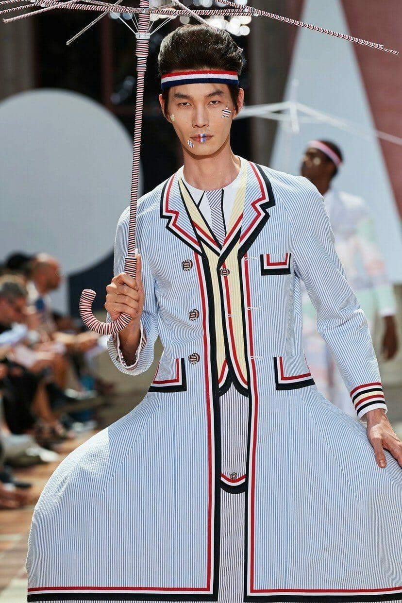 Thom Browne Menswear Spring Summer 2020 Paris. RUNWAY MAGAZINE ® Collections. RUNWAY NOW / RUNWAY NEW
