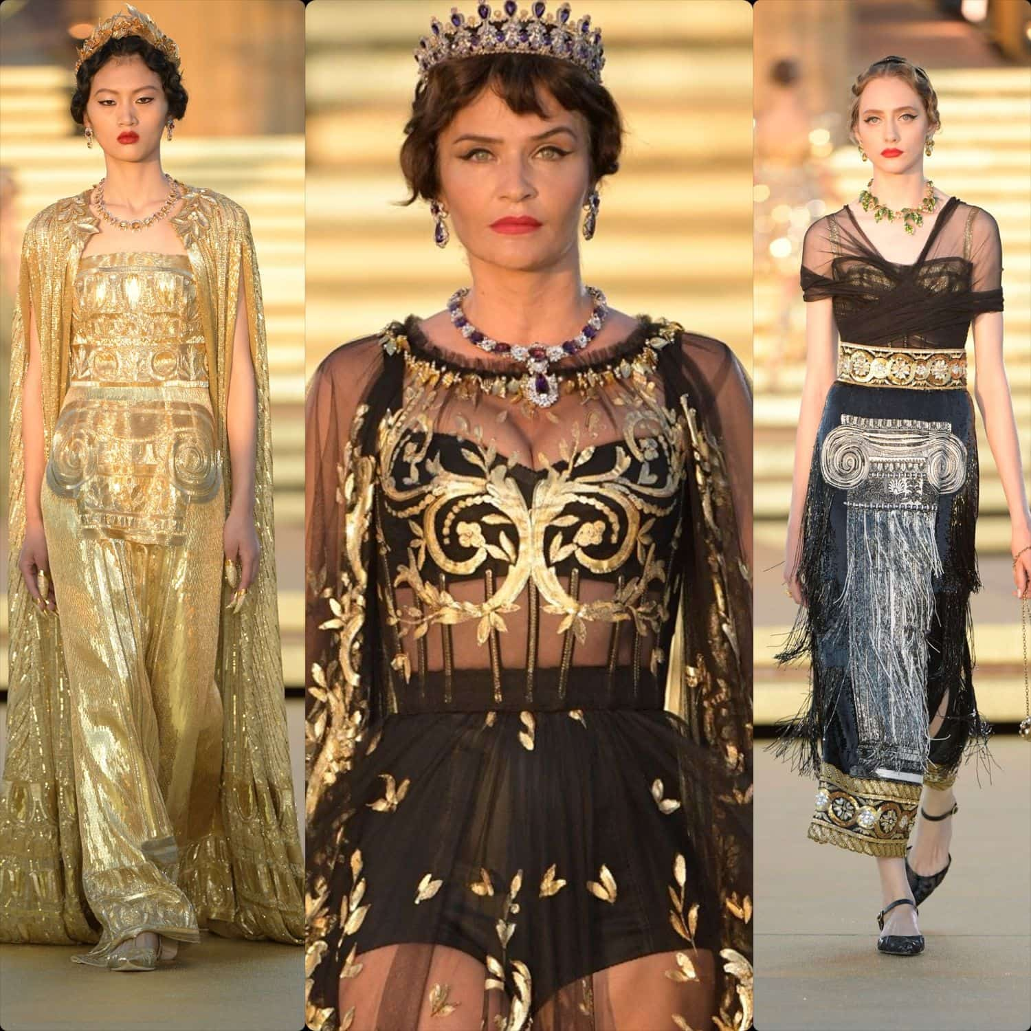 Dolce & Gabbana Alta Moda Temple of Concordia Sicily Fall Winter 2019-2020. RUNWAY MAGAZINE ® Collections. RUNWAY NOW / RUNWAY NEW.