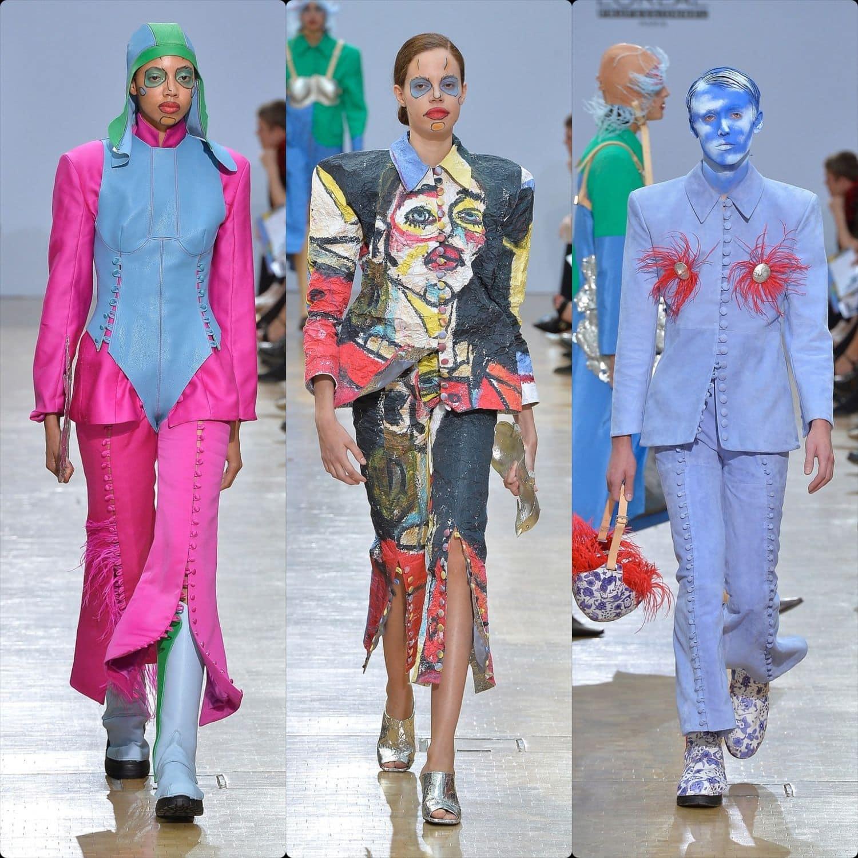 Central Saint Martins Spring Summer 2020 London. Designer Pauline De Blonay. RUNWAY MAGAZINE ® Collections. RUNWAY NOW / RUNWAY NEW