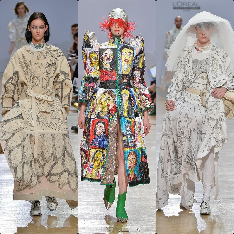 Central Saint Martins Spring Summer 2020 London. Designer Rosie Harris. RUNWAY MAGAZINE ® Collections. RUNWAY NOW / RUNWAY NEW