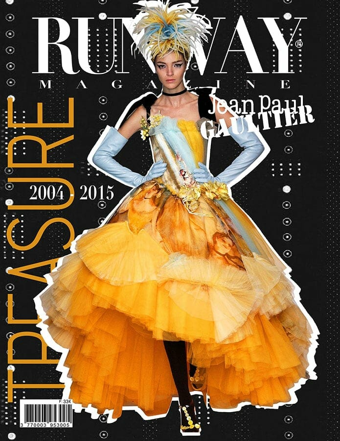 RUNWAY MAGAZINE 2019 Paris Cover - Jean Paul Gaultier Treasure