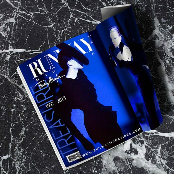 RUNWAY MAGAZINE 2019 Paris Cover -Thierry Mugler Treasure