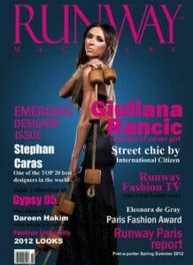 RUNWAY MAGAZINE 2012 cover