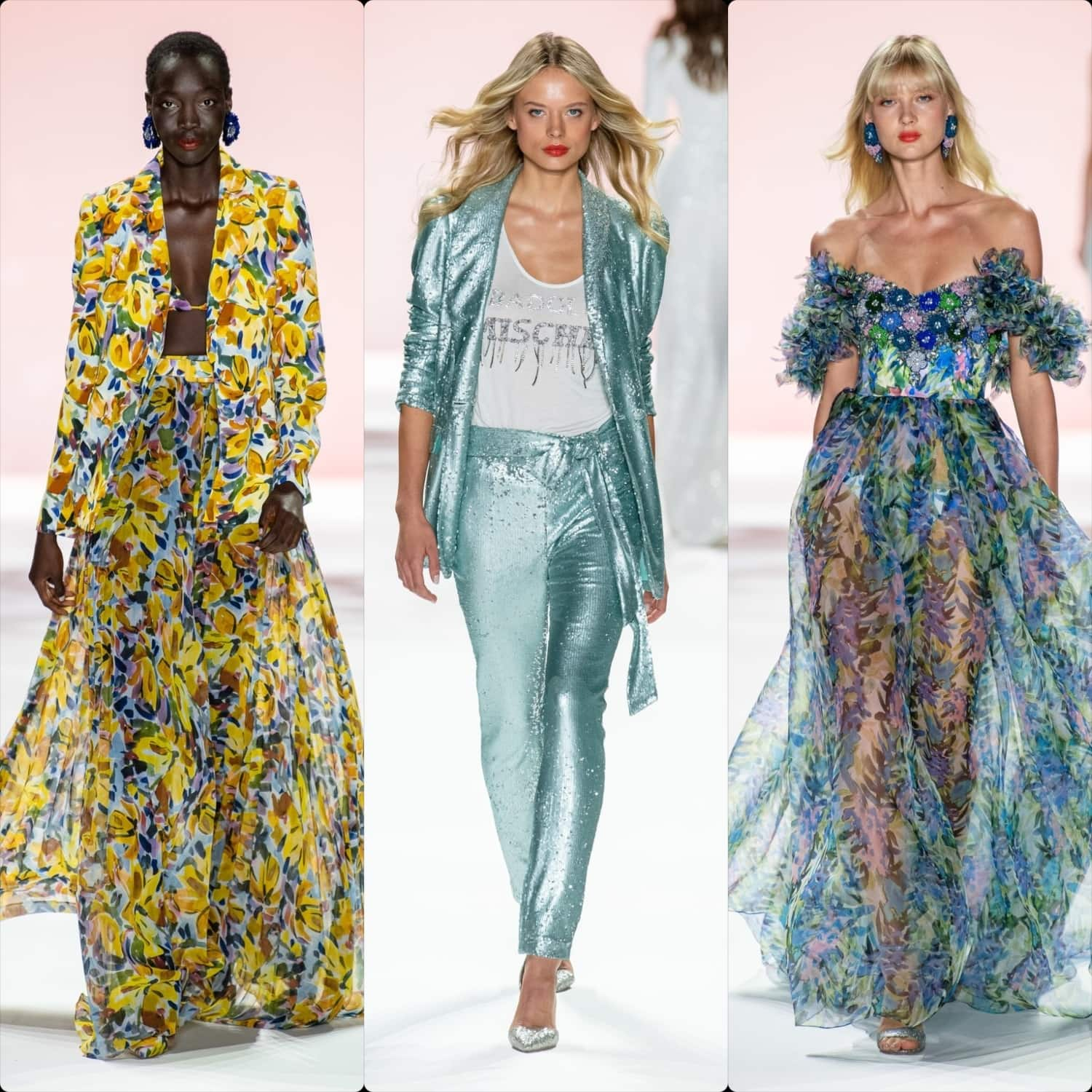 Badgley Mischka Spring Summer 2020 New York. RUNWAY MAGAZINE ® Collections. RUNWAY NOW / RUNWAY NEW