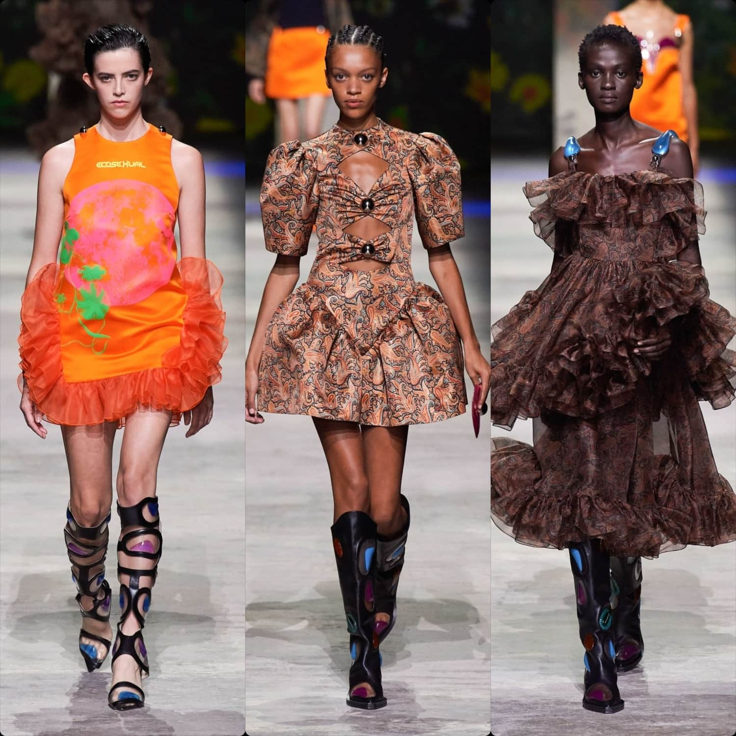 Christopher Kane Spring Summer 2020 London. RUNWAY MAGAZINE ® Collections. RUNWAY NOW / RUNWAY NEW