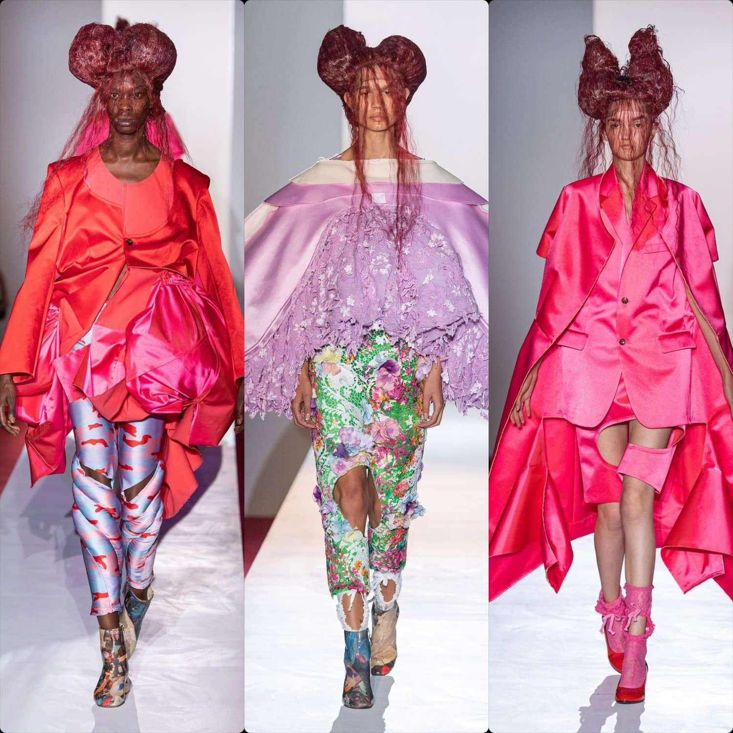 Comme des Garcons Spring Summer 2020 Paris Fashion Week. RUNWAY MAGAZINE ® Collections. RUNWAY NOW / RUNWAY NEW