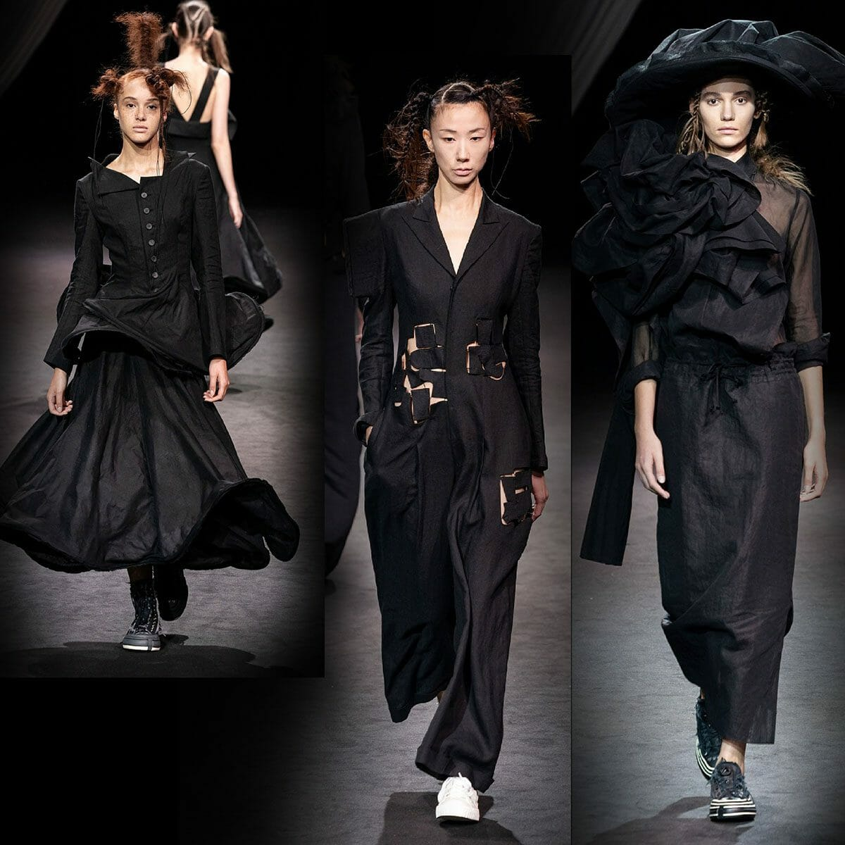 Yohji Yamamoto Spring Summer 2020 Paris Fashion Week. RUNWAY MAGAZINE ® Collections. RUNWAY NOW / RUNWAY NEW