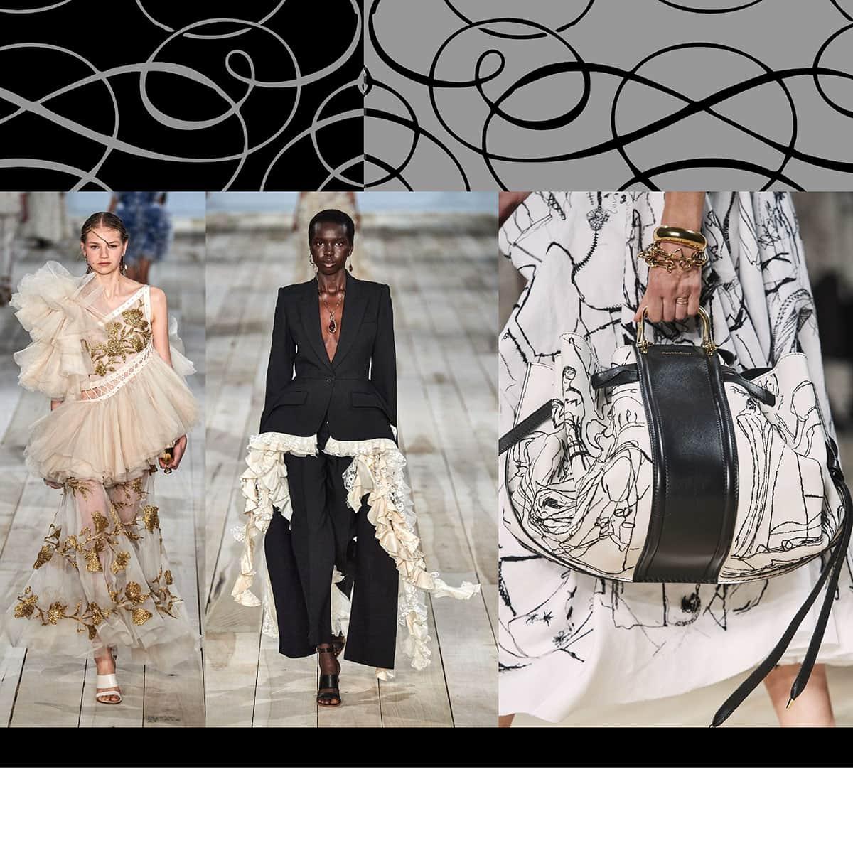 Alexander McQueen Spring Summer 2020 Paris Fashion Week. RUNWAY MAGAZINE ® Collections. RUNWAY NOW / RUNWAY NEW