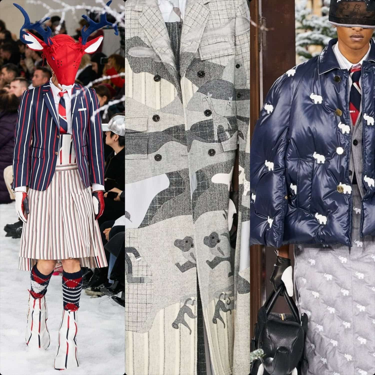 Thom Browne Fall-Winter 2020-2021 Paris. RUNWAY MAGAZINE ® Collections. RUNWAY NOW / RUNWAY NEW