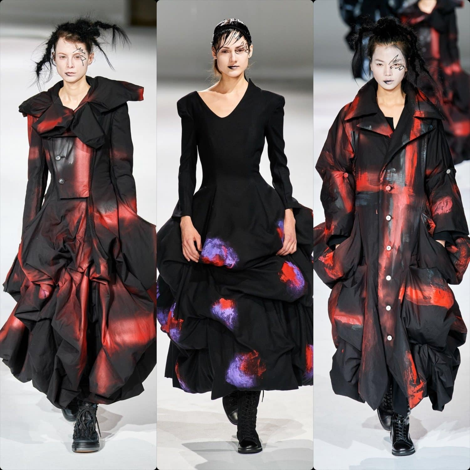Yohji Yamamoto Fall-Winter 2020-2021 Paris. RUNWAY MAGAZINE ® Collections. RUNWAY NOW / RUNWAY NEW