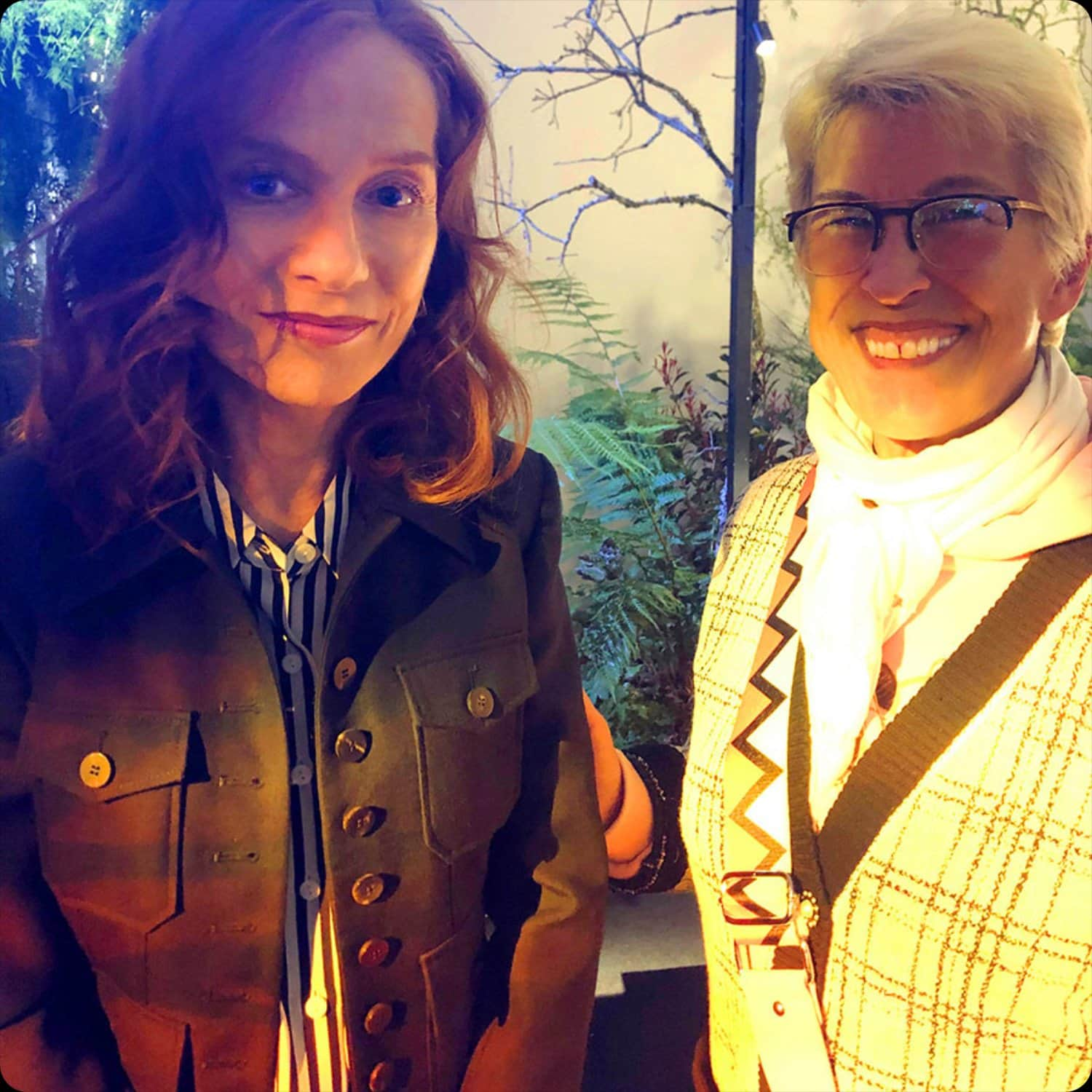 Isabelle Huppert and Guillaumette Duplaix at Delvaux Fall-Winter 2020-2021 Paris by RUNWAY MAGAZINE