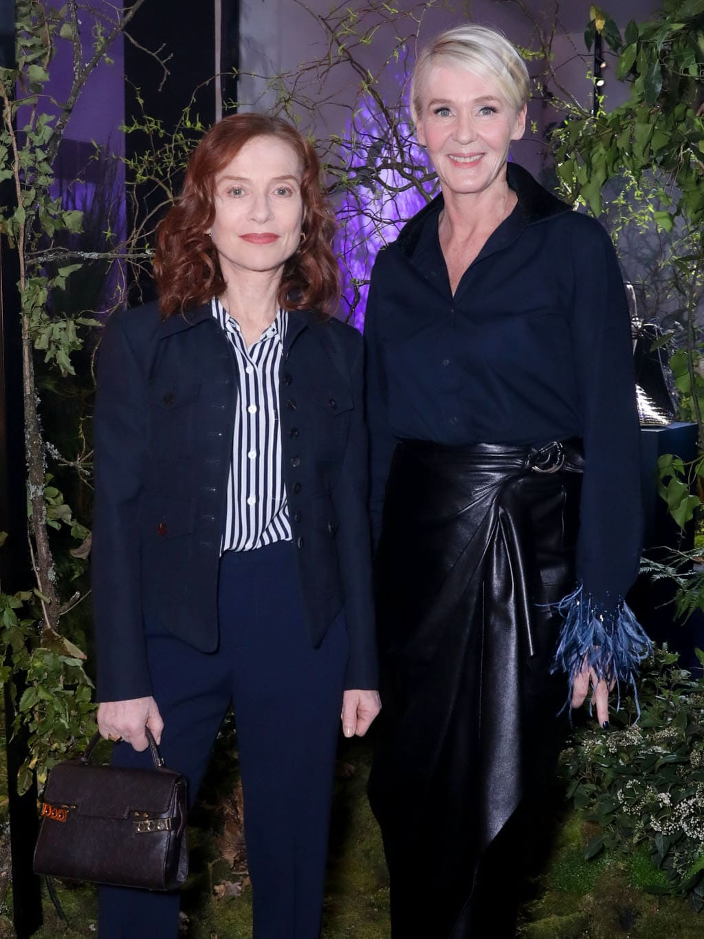 Isabelle_Huppert and creative director of Delvaux Christina Zeller. Delvaux Fall-Winter 2020-2021 Paris. RUNWAY MAGAZINE ® Collections. RUNWAY NOW / RUNWAY NEW