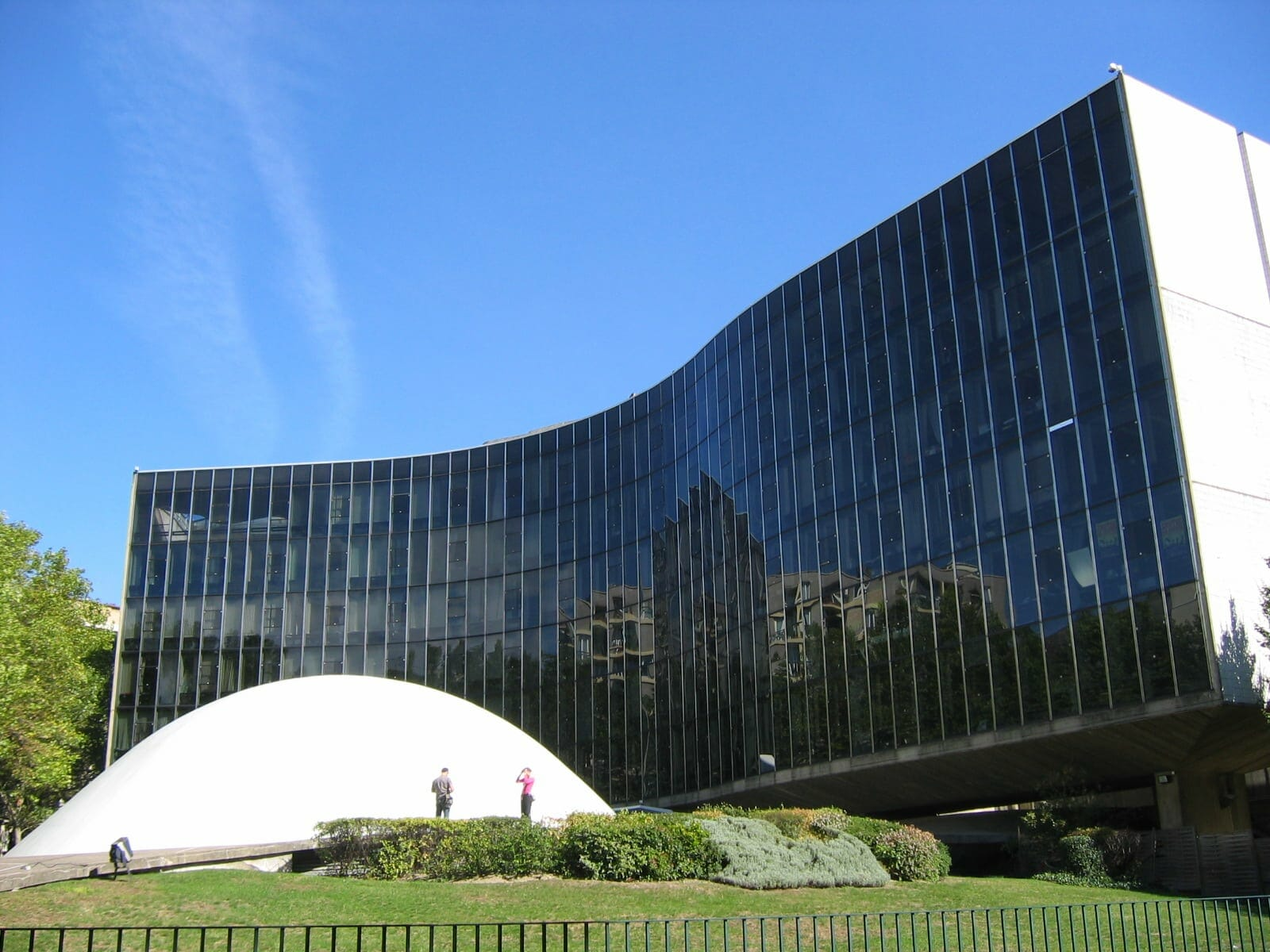 Espace Niemeyer, headquarters of the French Communist Party, Place Coloniel Fabien