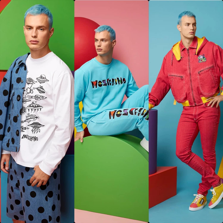 Moschino Spring Summer 2021 Men Milan Digital Fashion Week. RUNWAY MAGAZINE ® Collections. RUNWAY NOW / RUNWAY NEW