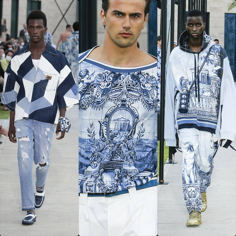 Dolce Gabbana Spring Summer 2021 Men. RUNWAY MAGAZINE ® Collections. RUNWAY NOW / RUNWAY NEW