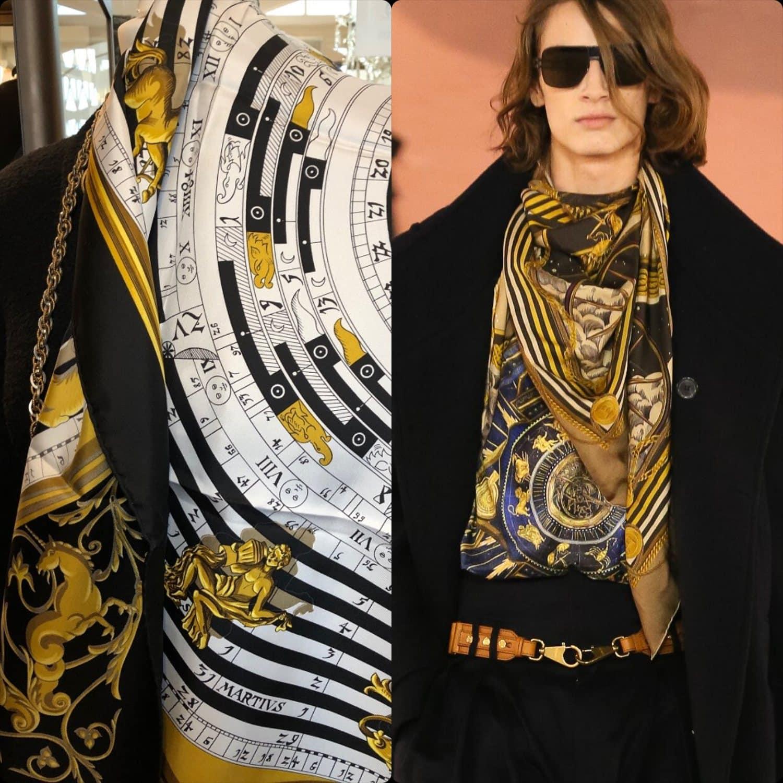 Balmain Fall Winter 2020 -2021 vs Hermes 1990 silk scarfs