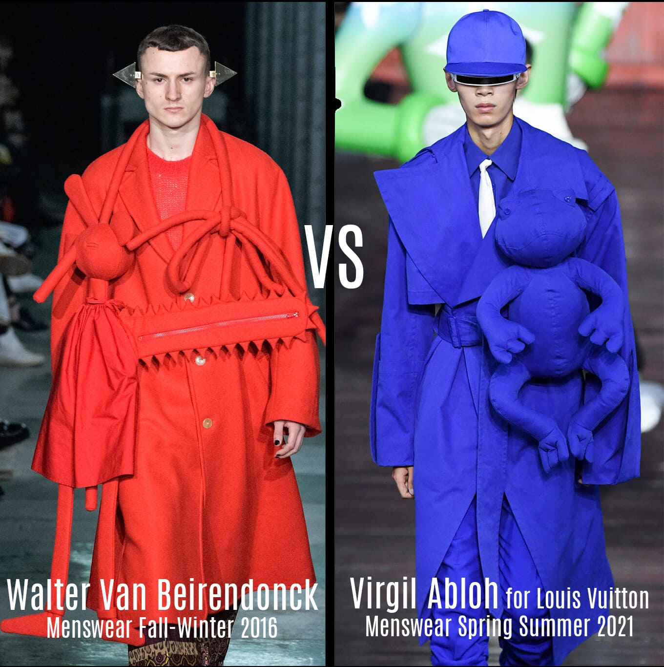Walter Van Beirendonck Menswear Fall-Winter 2016 VS Virgil Abloh for Louis Vuitton Menswear Spring Summer 2021