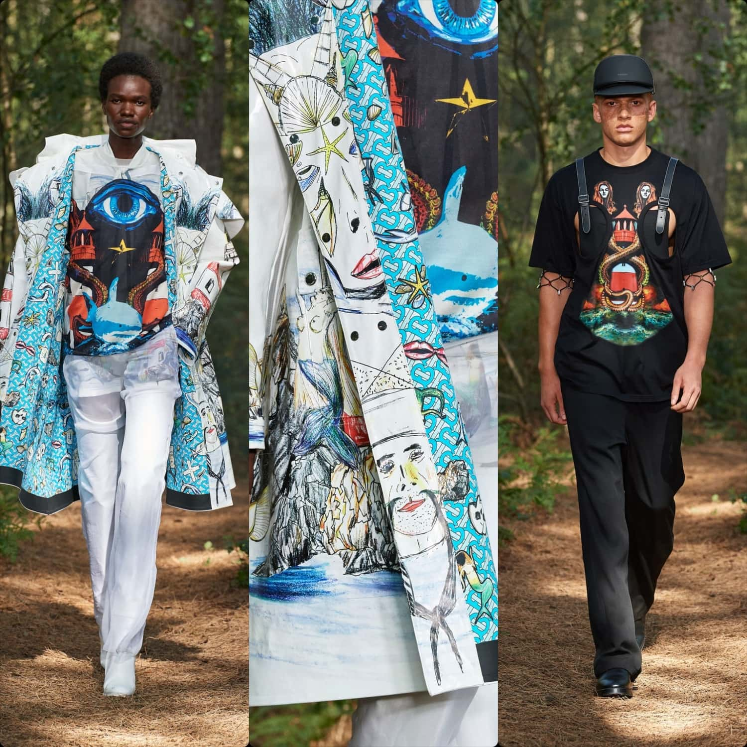 Burberry Spring Summer 2021 London. RUNWAY MAGAZINE ® Collections. RUNWAY NOW / RUNWAY NEW