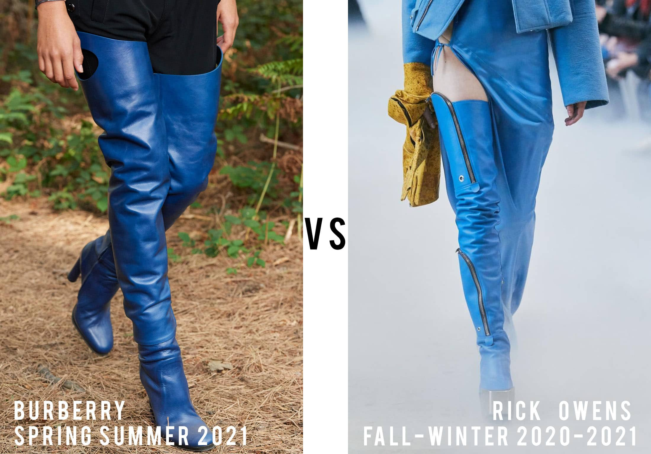 Burberry Spring Summer 2021 vs Rick Owens Fall-Winter 2020-2021