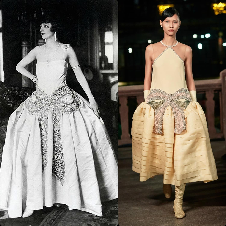 Jeanne Lanvin 1925 vs Lanvin Spring Summer 2021 Shanghai by RUNWAY MAGAZINE