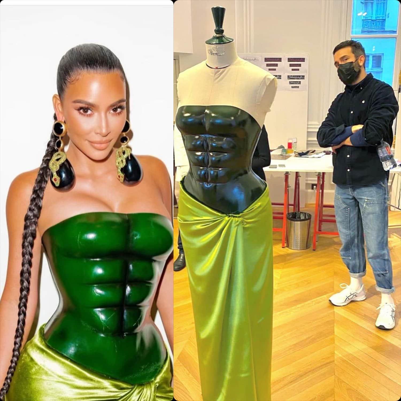 Kim Kardashian in custom Schiaparelli couture for Spring Summer 2021. RUNWAY MAGAZINE ® Collections. RUNWAY NOW / RUNWAY NEW
