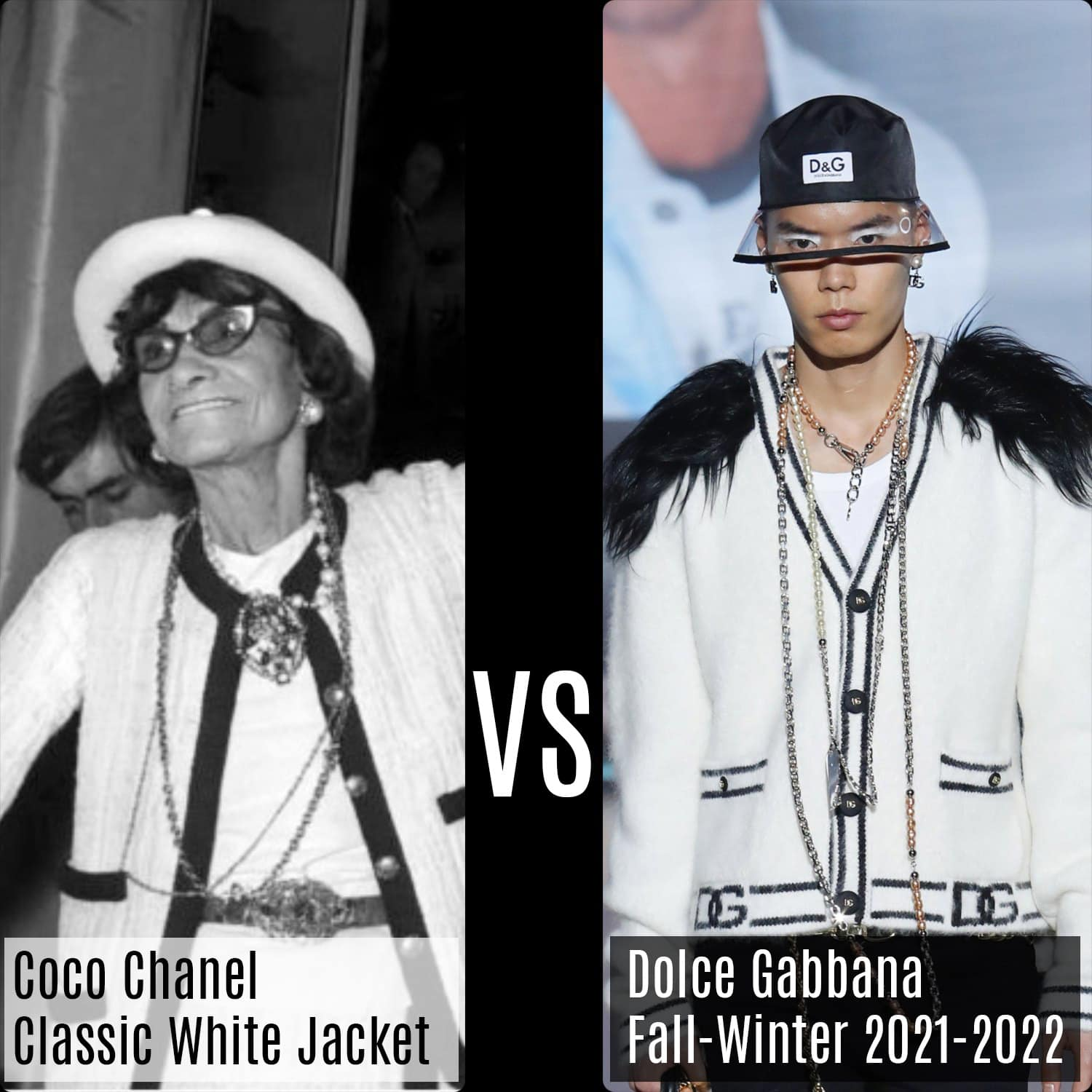 Chanel Classic White Jacket VS Dolce Gabbana Fall-Winter 2021-2022