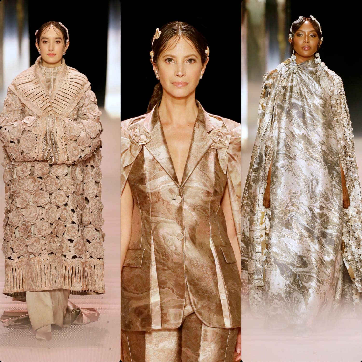 Christy Turlington, Naomi Campbell for Fendi Haute Couture Spring Summer 2021. RUNWAY MAGAZINE ® Collections. RUNWAY NOW / RUNWAY NEW