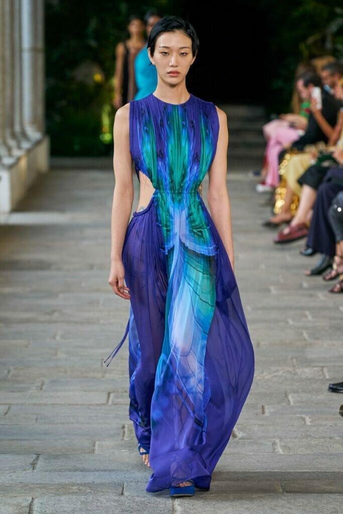 Alberta Ferretti Spring Summer 2022 Milan. RUNWAY MAGAZINE ® Collections. RUNWAY NOW / RUNWAY NEW