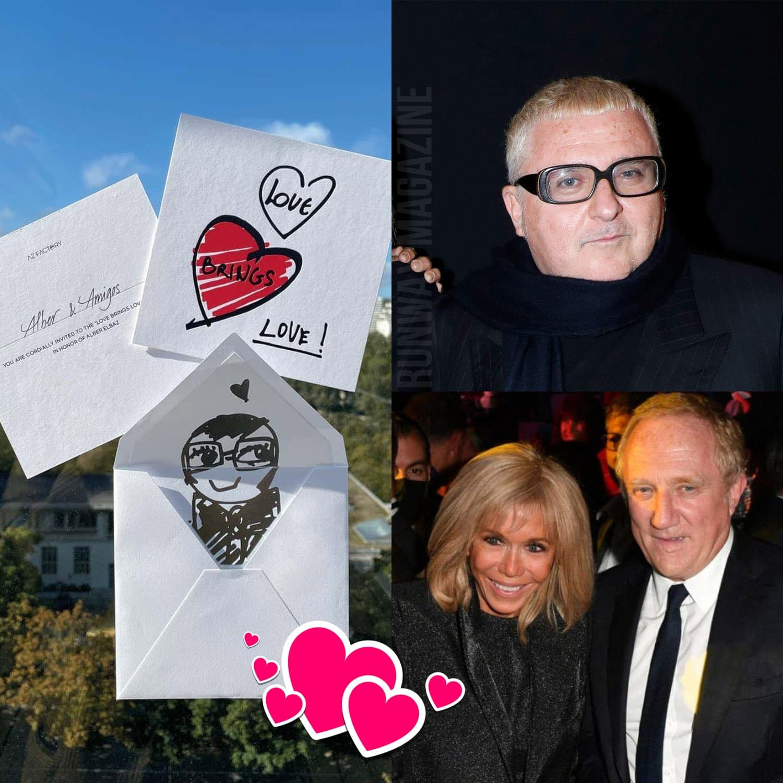 Tribute to Alber Elbaz show - Brigitte Macron and Francois-Henri Pinault by RUNWAY MAGAZINE