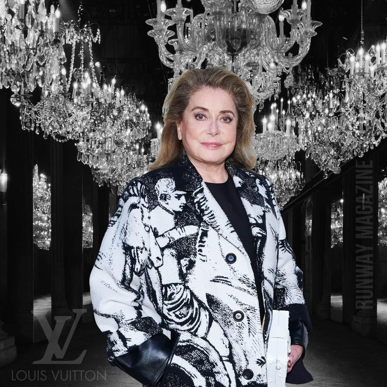CATHERINE DENEUVE at Louis Vuitton Spring Summer 2022 by RUNWAY MAGAZINE