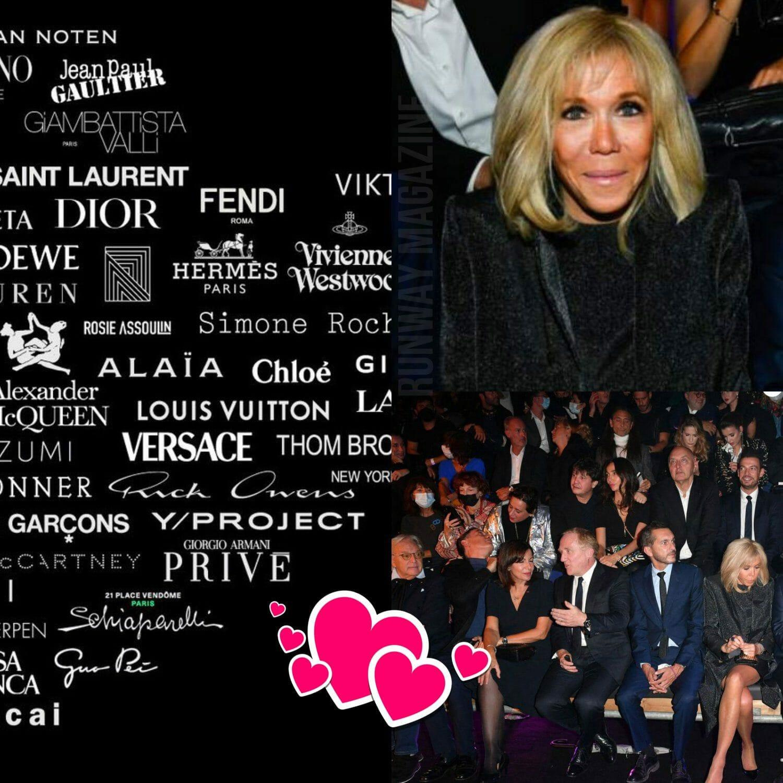 Tribute to Alber Elbaz AZ-factory show - Brigitte Macron by RUNWAY MAGAZINE
