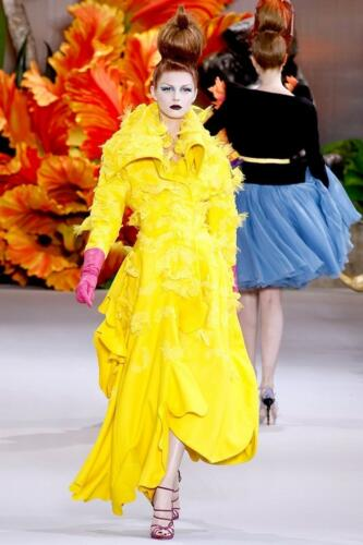 "JOHN GALLIANO for CHRISTIAN DIOR HAUTE COUTURE FALL-WINTER 2010-2011. RUNWAY MAGAZINE ® Collections Special Selection ""Fashion Treasure"". RUNWAY MAGAZINE ® Collections. RUNWAY NOW / RUNWAY NEW"