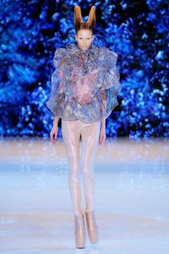 """ALEXANDER McQUEEN READY-TO-WEAR SPRING-SUMMER 2010. Last collection of Alexander McQueen. Paris Fashion Week. RUNWAY MAGAZINE ® Collections Special Selection """"Fashion Treasure"""". RUNWAY MAGAZINE ® Collections. RUNWAY NOW / RUNWAY NEW"""