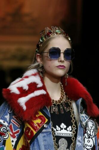 """DOLCE & GABBANA READY-TO-WEAR FALL-WINTER 2018-2019. Milan Fashion Week. RUNWAY MAGAZINE ® Collections Special Selection """"Fashion Treasure"""". RUNWAY MAGAZINE ® Collections. RUNWAY NOW / RUNWAY NEW"""