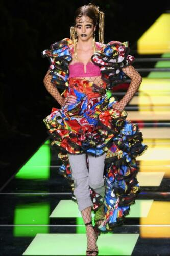 """JOHN GALLIANO for CHRISTIAN DIOR HAUTE COUTURE FALL-WINTER 2003-2004. RUNWAY MAGAZINE ® Collections Special Selection """"Fashion Treasure""""."""